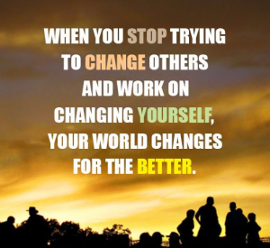 Stop Trying to Change Yourself